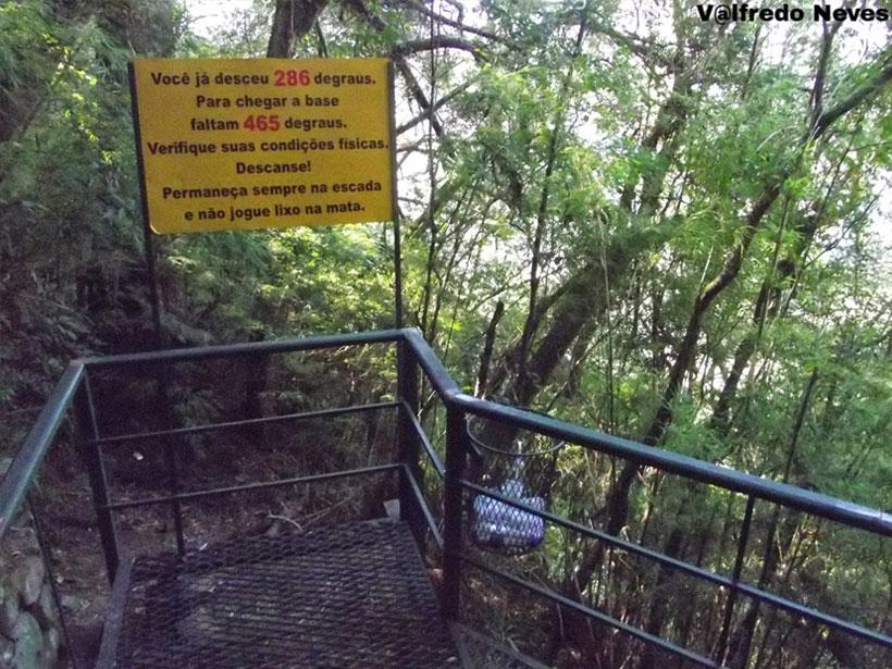 Placa Indicativa - Escada da Perna Bamba
